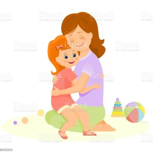 mother daughter vector hugging drawing illustrations clip illustration graphics similar