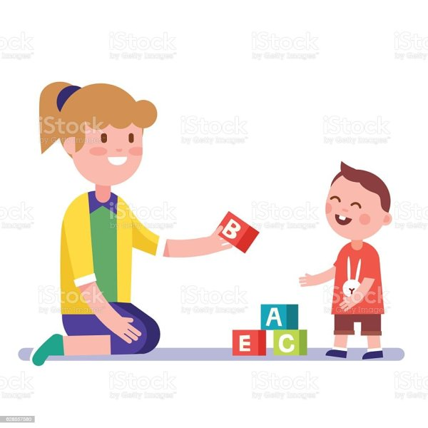 Teacher Teaching Children Clip Art