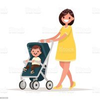 Push Chair Clip Art, Vector Images & Illustrations - iStock