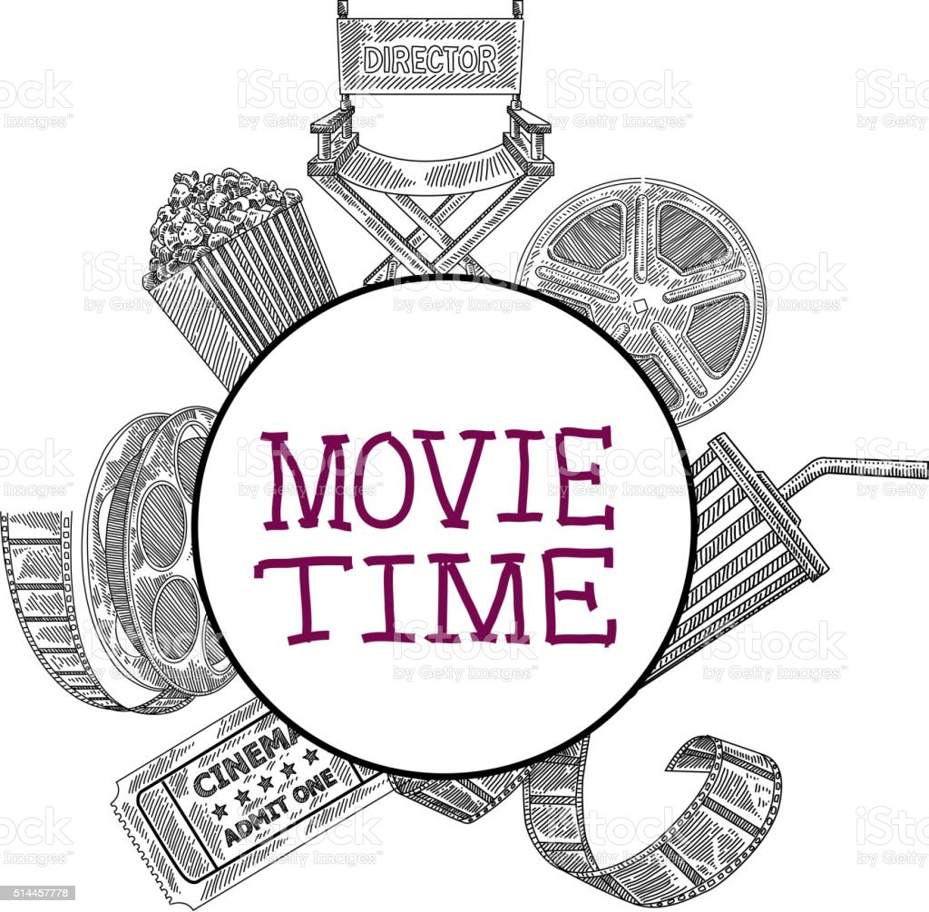 Movie Design Elements Drawing Stock Vector Art & More