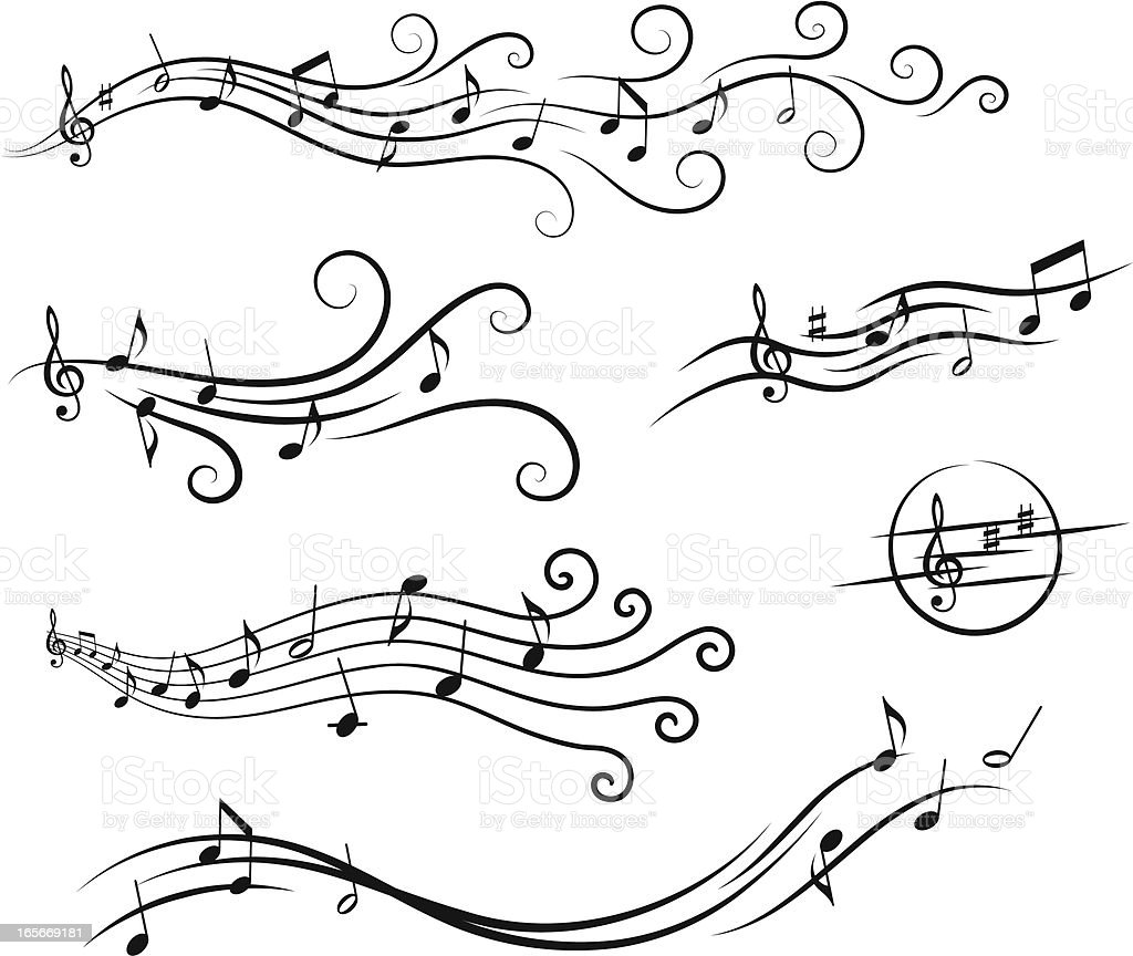 Music Design Elements Stock Vector Art & More Images of