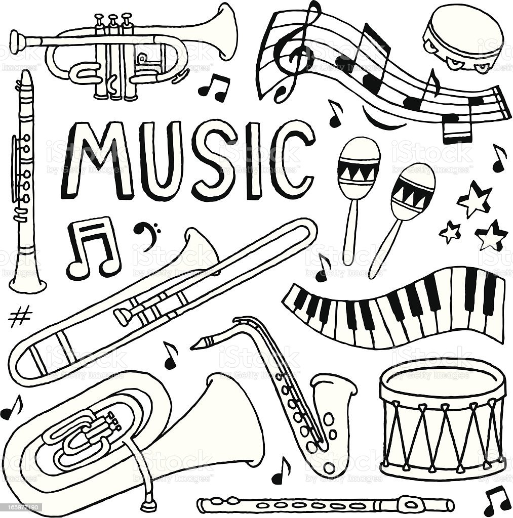 Music Doodles Stock Vector Art & More Images of Arts