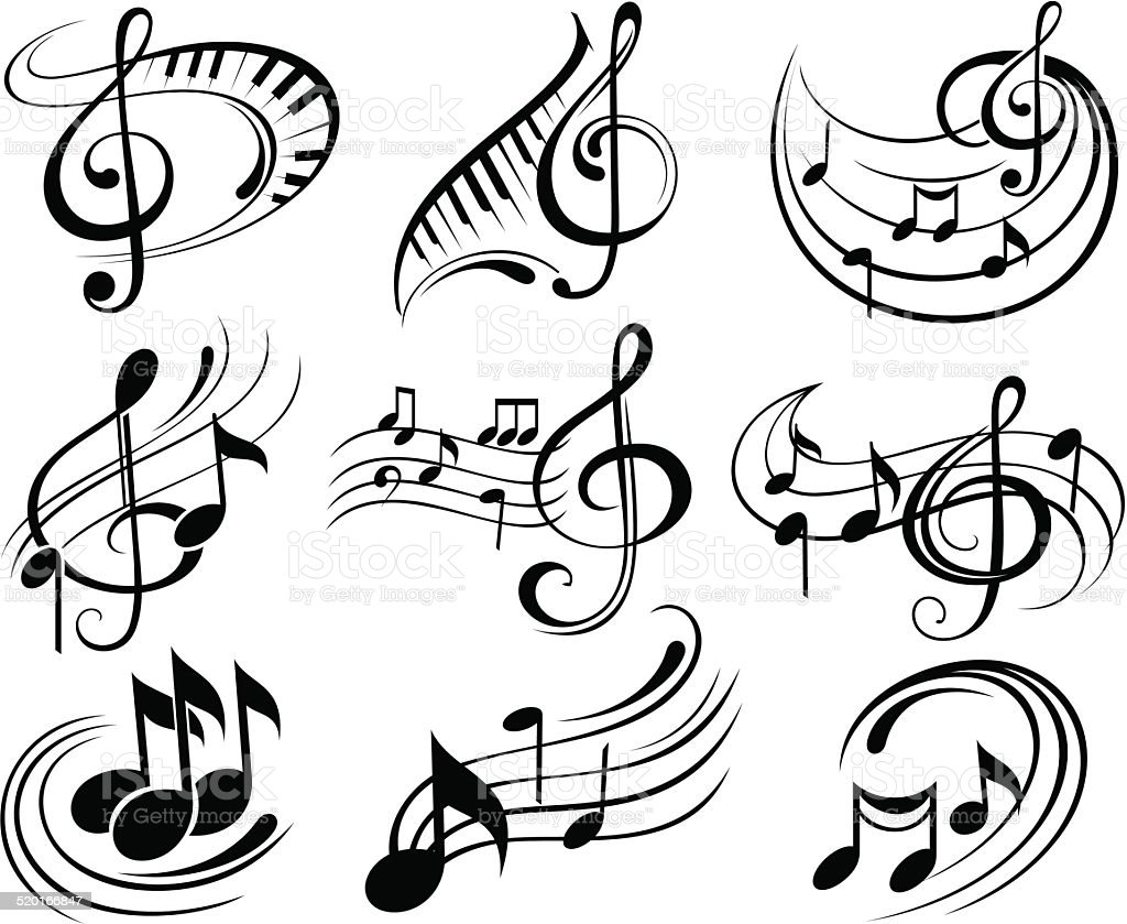 Music Notes Stock Vector Art & More Images of Abstract