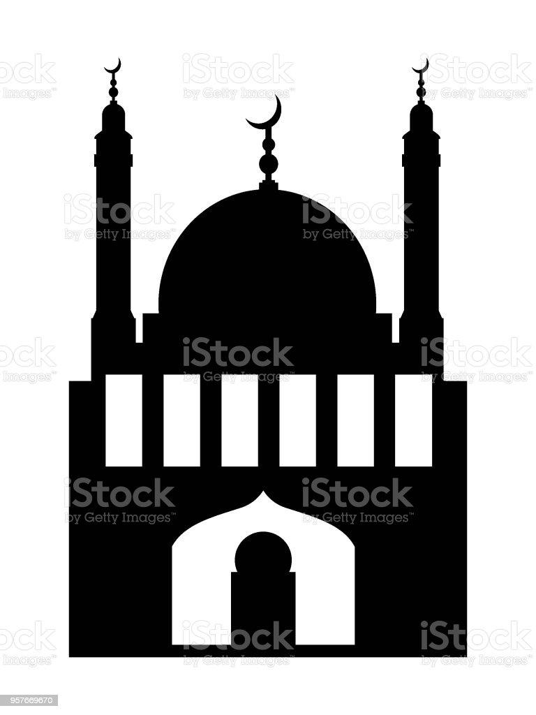Mosque Silhouette Vector : mosque, silhouette, vector, Muslim, Mosque, Silhouette, Stock, Illustration, Download, Image, IStock