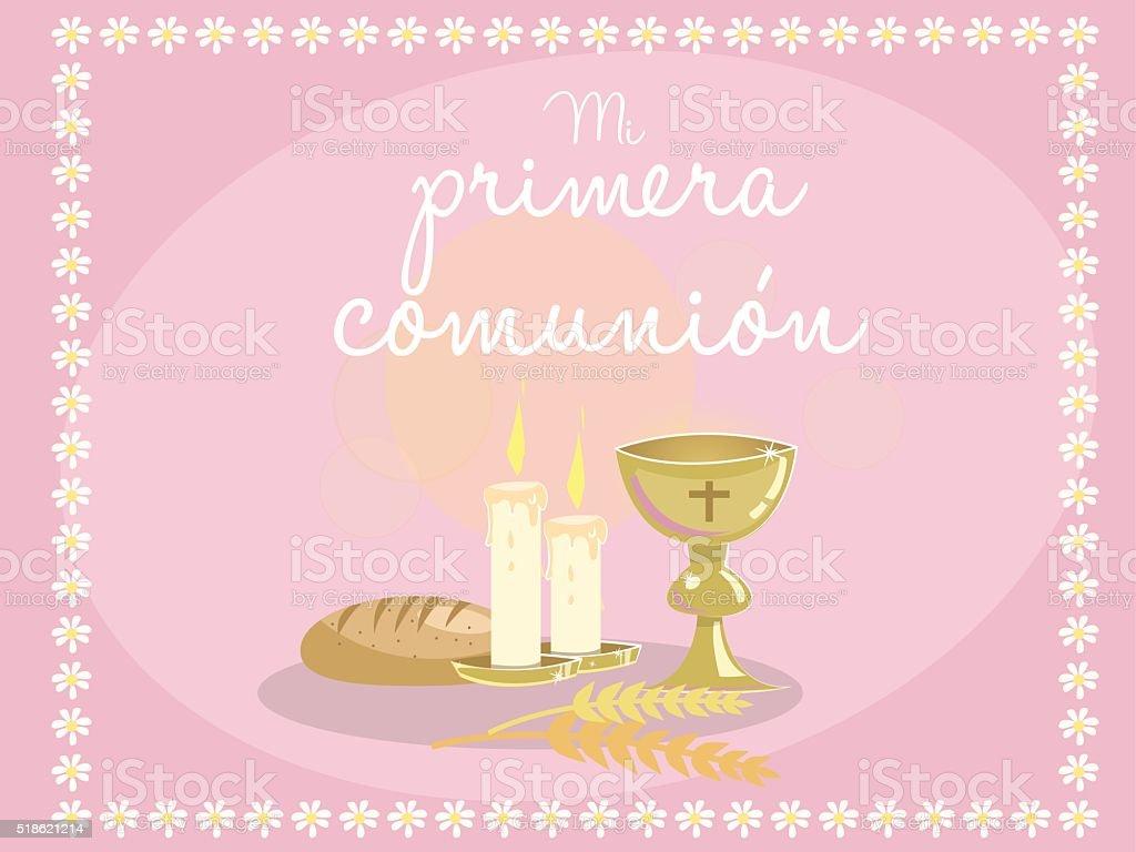 https www istockphoto com fr vectoriel ma premi c3 a8re communion carte dinvitation monuments religieux sur bleu gm518621214 90138095