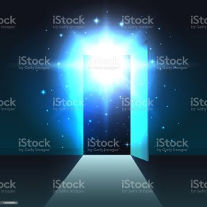 door open dark mystical template exit