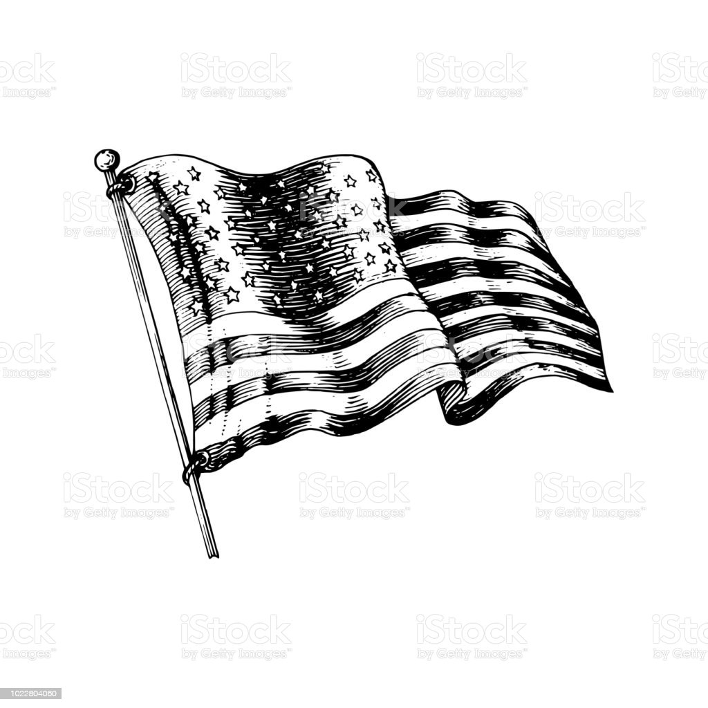 best american flag sketch