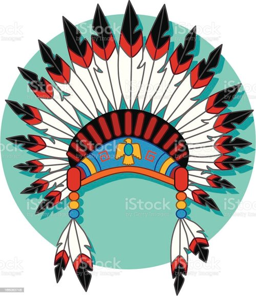 small resolution of native american headdress royalty free native american headdress stock vector art amp more images