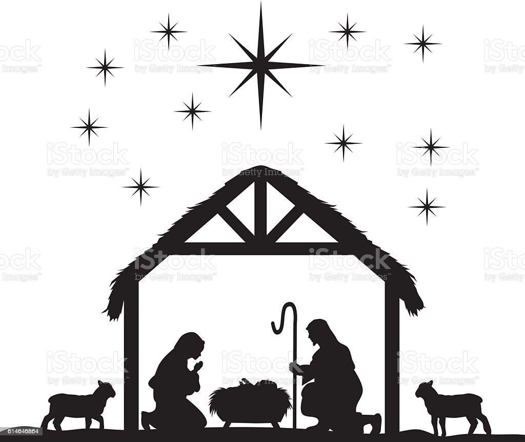 royalty free nativity silhouette