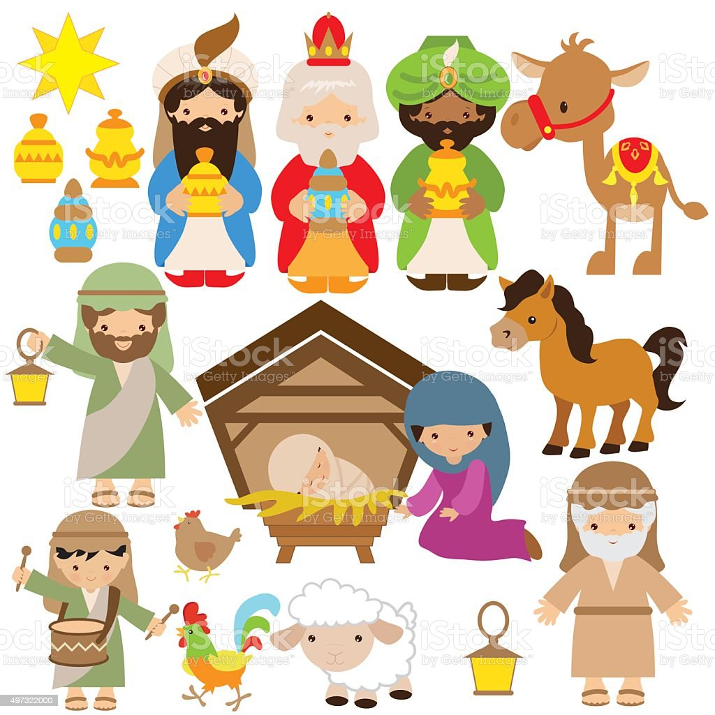 nativity scene clip art vector