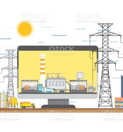 natural gas energy natural gas power plant natural gas combine cycle generate the electric in simple graphic illustration  [ 1024 x 820 Pixel ]