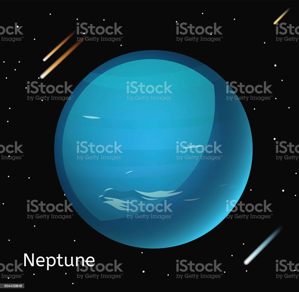 medium resolution of neptune planet 3d vector illustration illustration