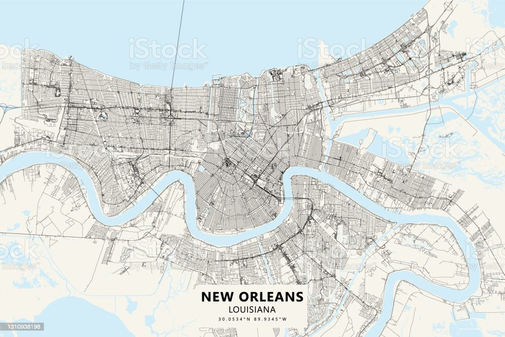 New orleans cbd and downtown map. 505 New Orleans Map Stock Photos Pictures Royalty Free Images Istock