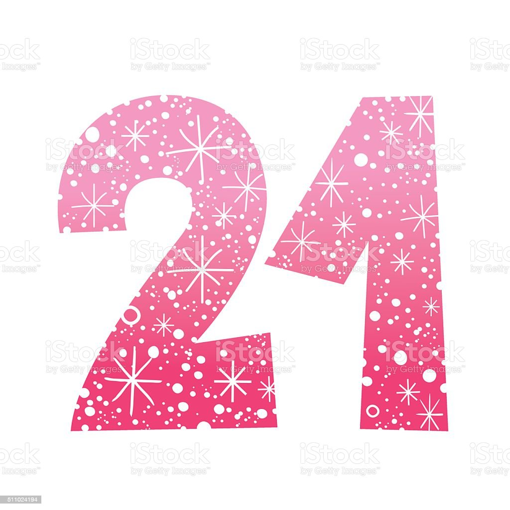 number 21 illustrations royalty-free