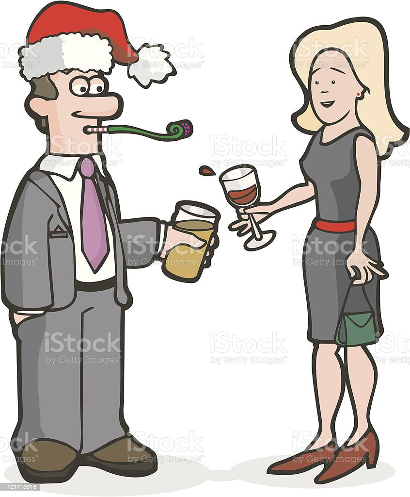 Office Christmas Party Cartoon Images : office, christmas, party, cartoon, images, Office, Christmas, Party, Stock, Illustration, Download, Image, IStock