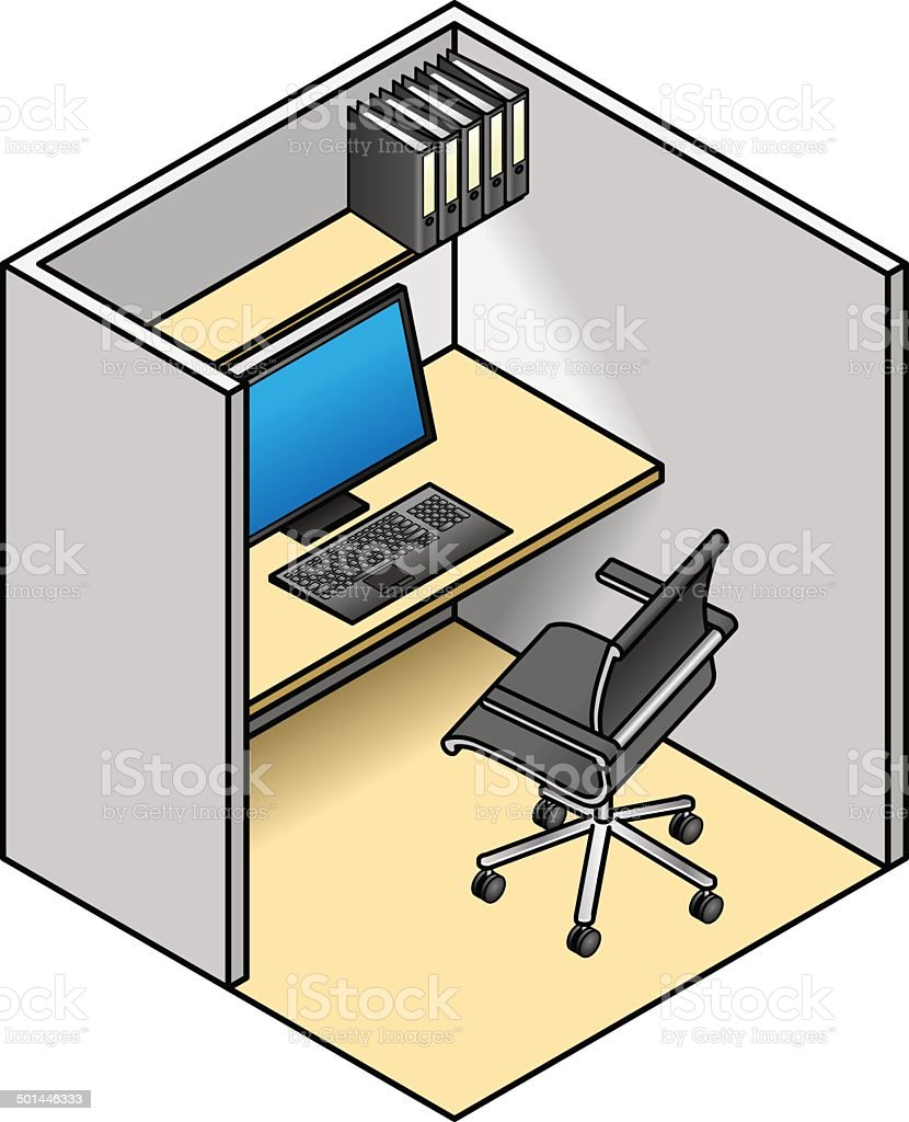 office cubicle stock vector art