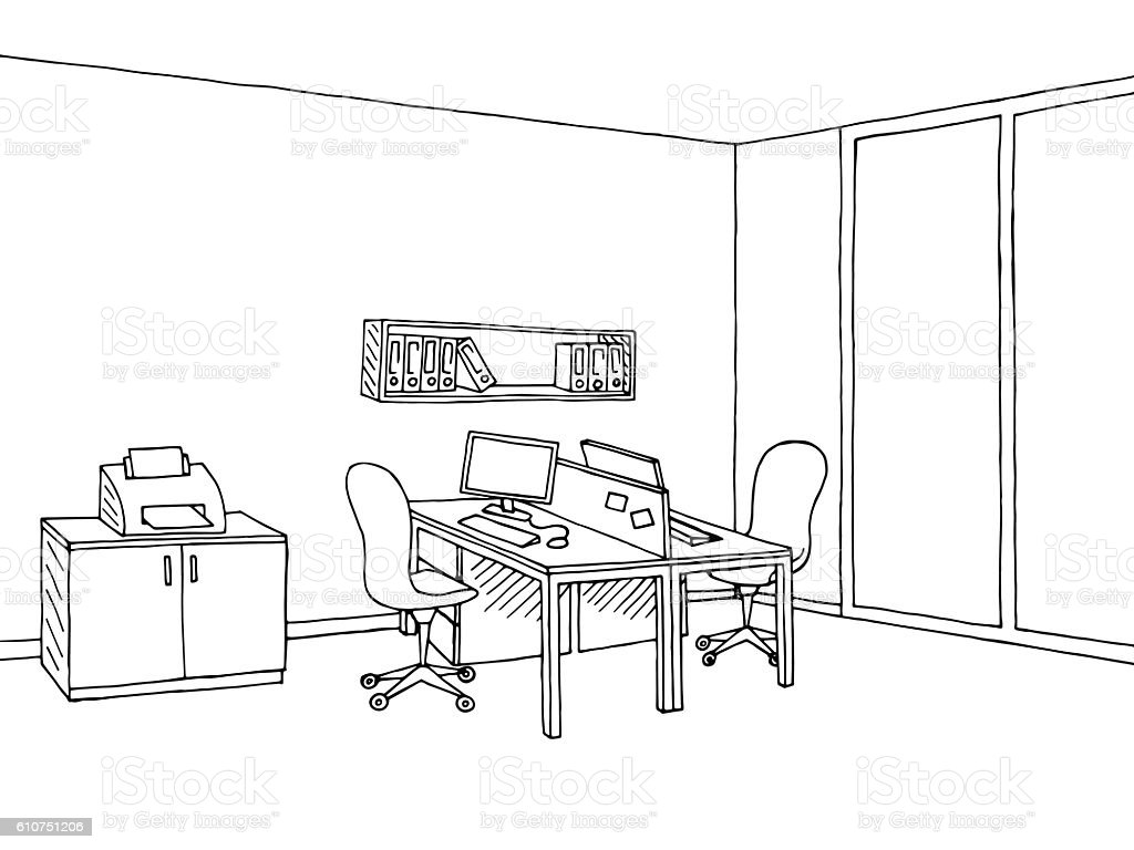 office chair illustration round farmhouse table 6 chairs graphic art black white sketch vector
