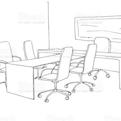 Office Chair Vector Fabrics For Chairs Uk In A Sketch Style Hand Drawn Desk Illustration