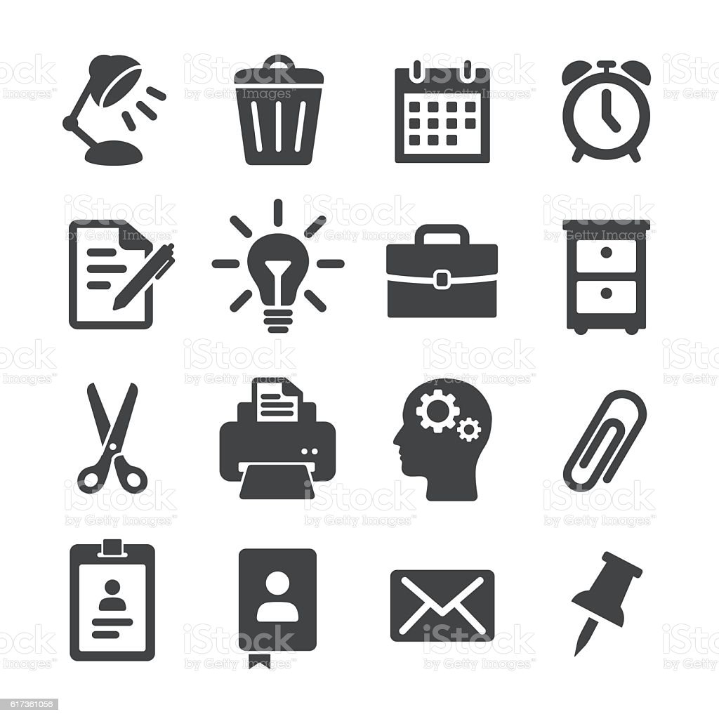 Office Work Icons Acme Series Stock Vector Art & More