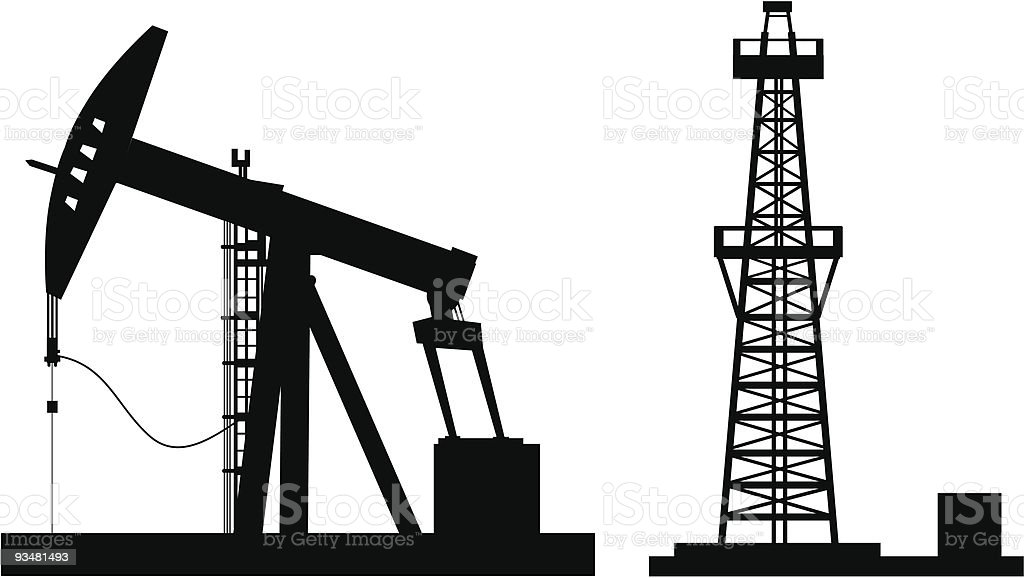 Oil Pump Stock Vector Art & More Images of Black Color