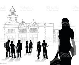 student clip female campus illustrations vector graphics cartoons