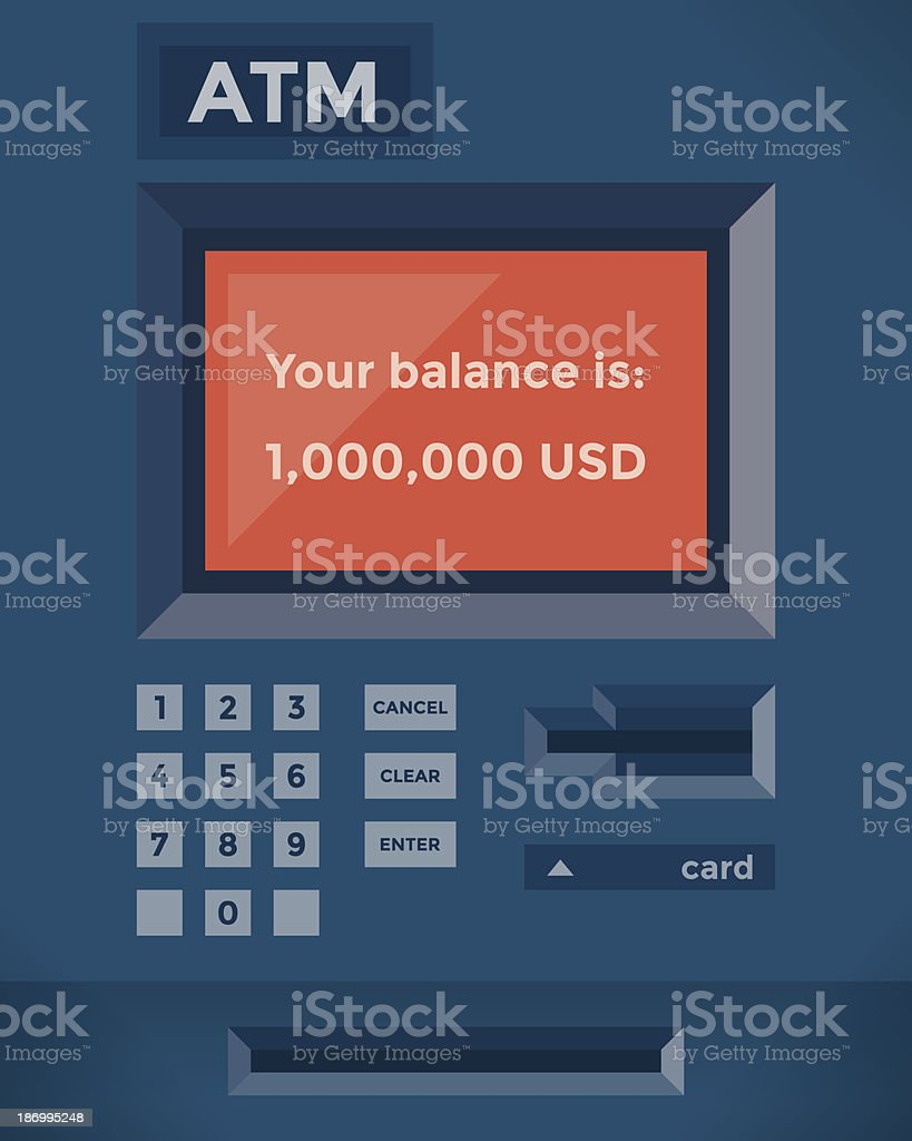 One Million Dollars Balance On The Atm Stock Illustration Download Image Now Istock