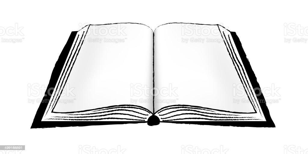 Livro Aberto Ou Notebook Pc Download Vetor e Ilustração