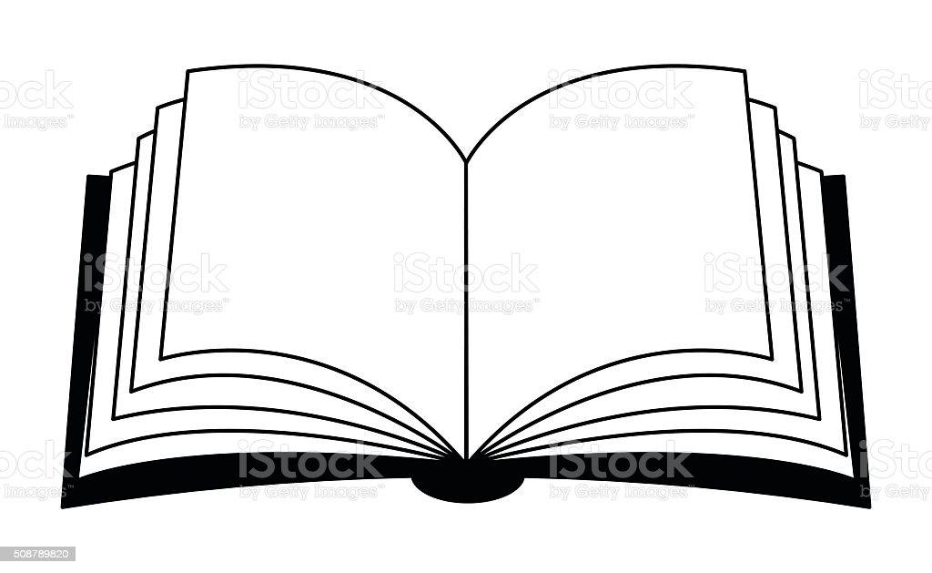 Open Book Vector Clipart Symbol Icon Design stock vector