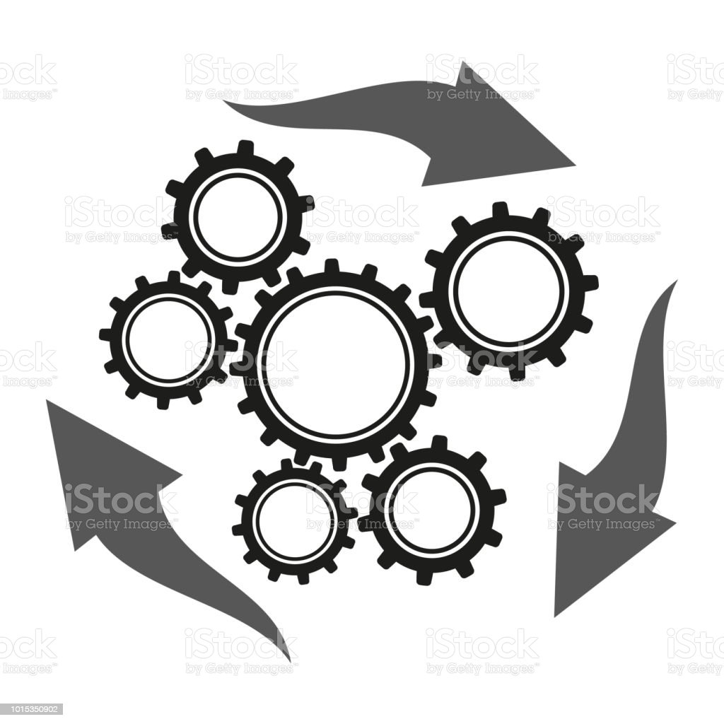 Operations Icon Vector Business Management Stock Vector