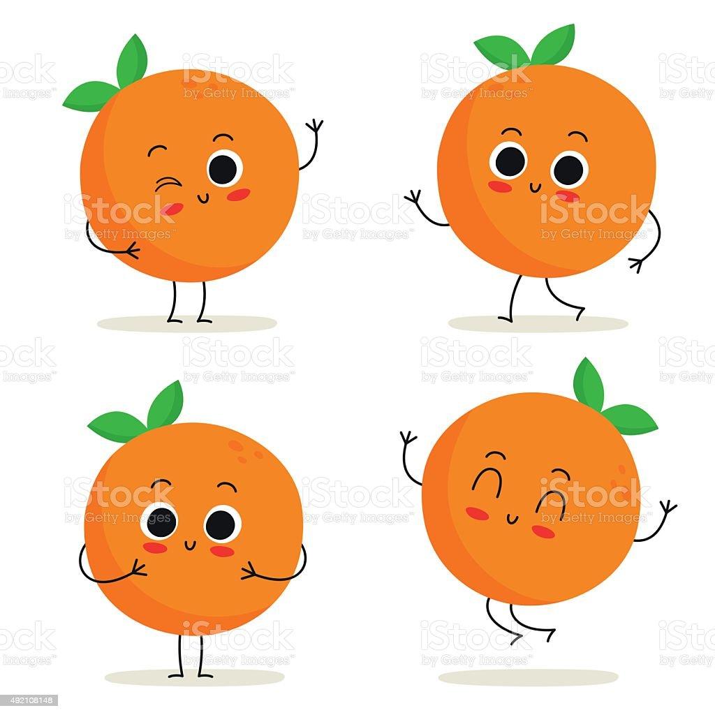 royalty free orange clip art vector