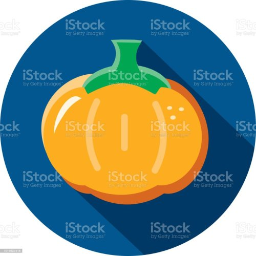 small resolution of orange pumpkin vegetables flat design themed icon with shadow illustration