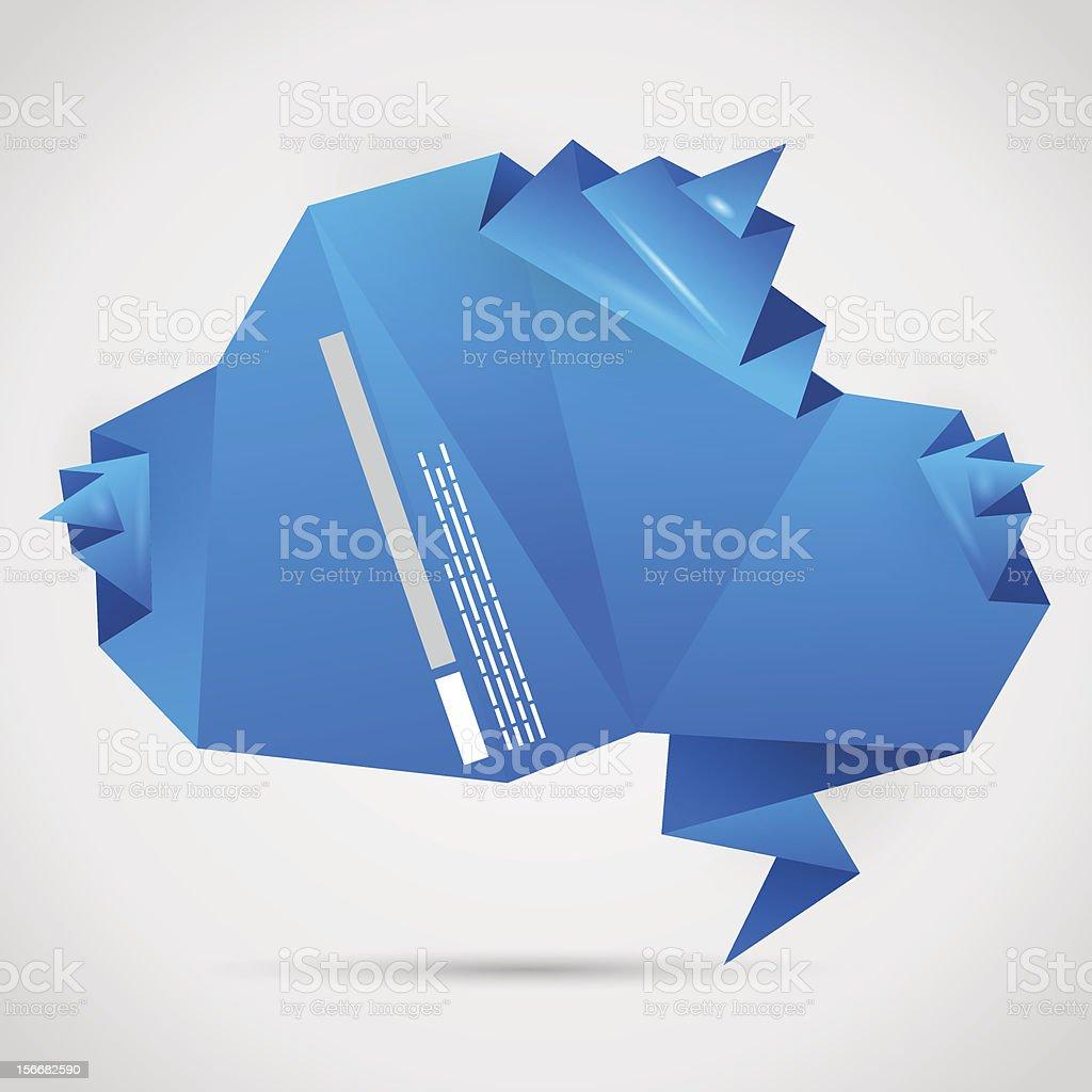 origami cloud stock vector