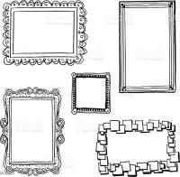 Ornate Frames In Sketch Style stock vector art 451291763 ...