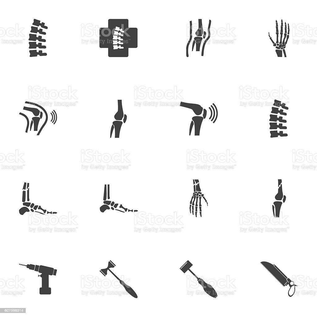 Orthopedic And Spine Symbol Vector Illustration Stock