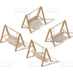 Outdoor Garden Wooden Hanging On Frame Porch Swing Bench Furniture With Ropes Isolated On White Background Isometric Vector Illustration Isometric Swing Stock Illustration Download Image Now Istock