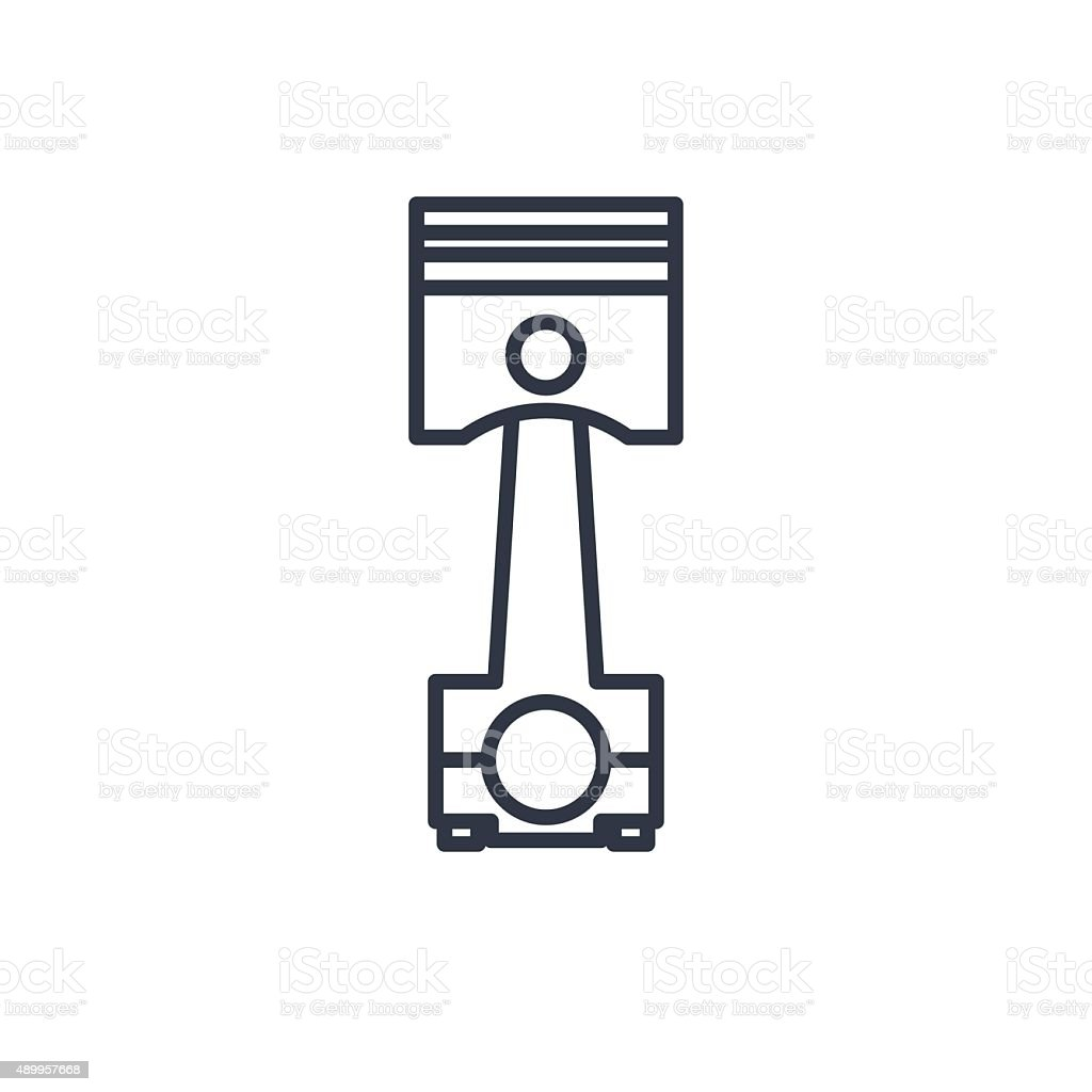 Outline Icon Of Engine Piston Stock Vector Art & More