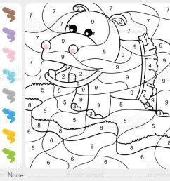 Paint Color By Numbers Addition And Subtraction Worksheet For Education  Stock Illustration - Download Image Now - iStock [ 768 x 1024 Pixel ]