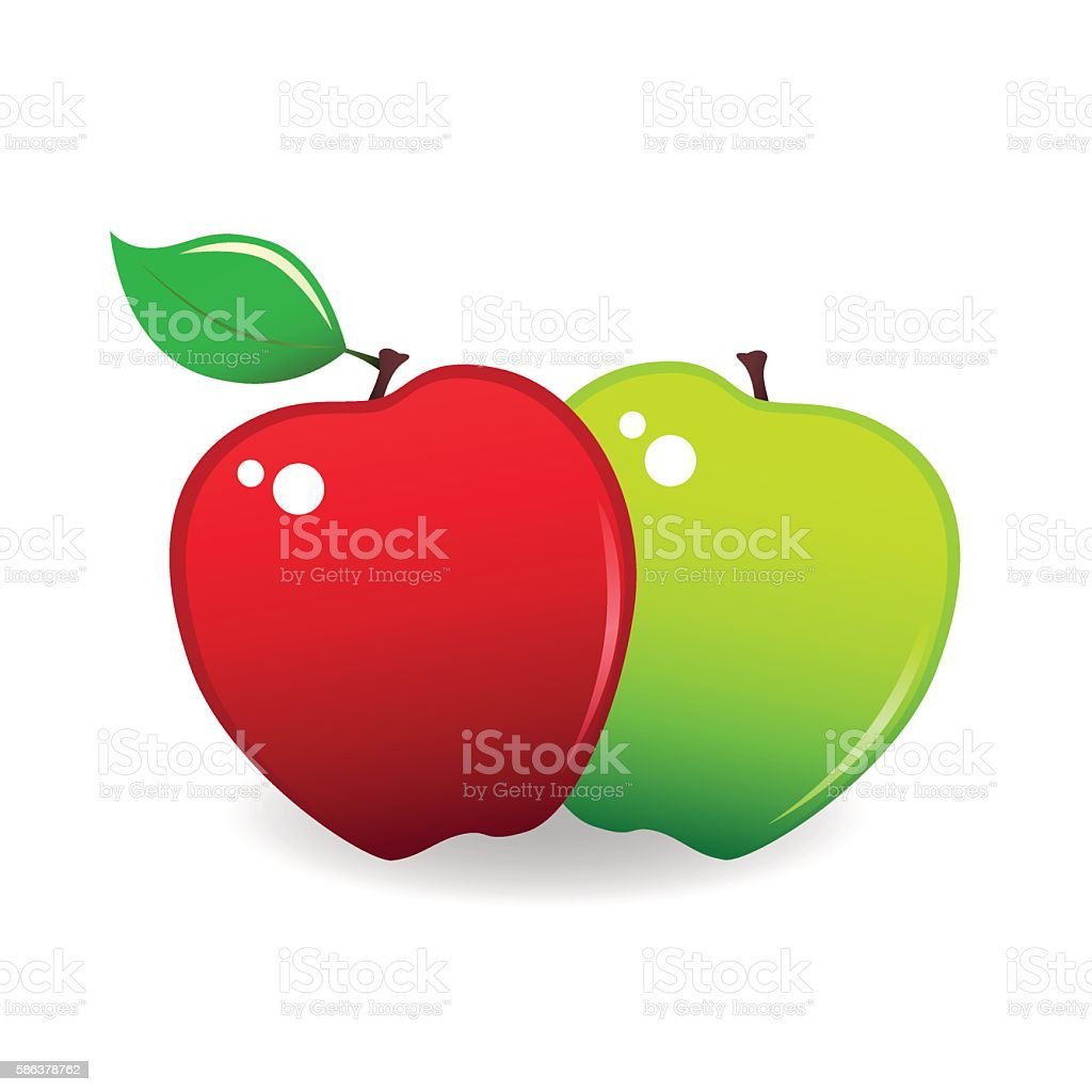 royalty free two apples clip art