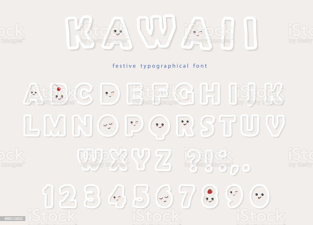 paper cut out kawaii