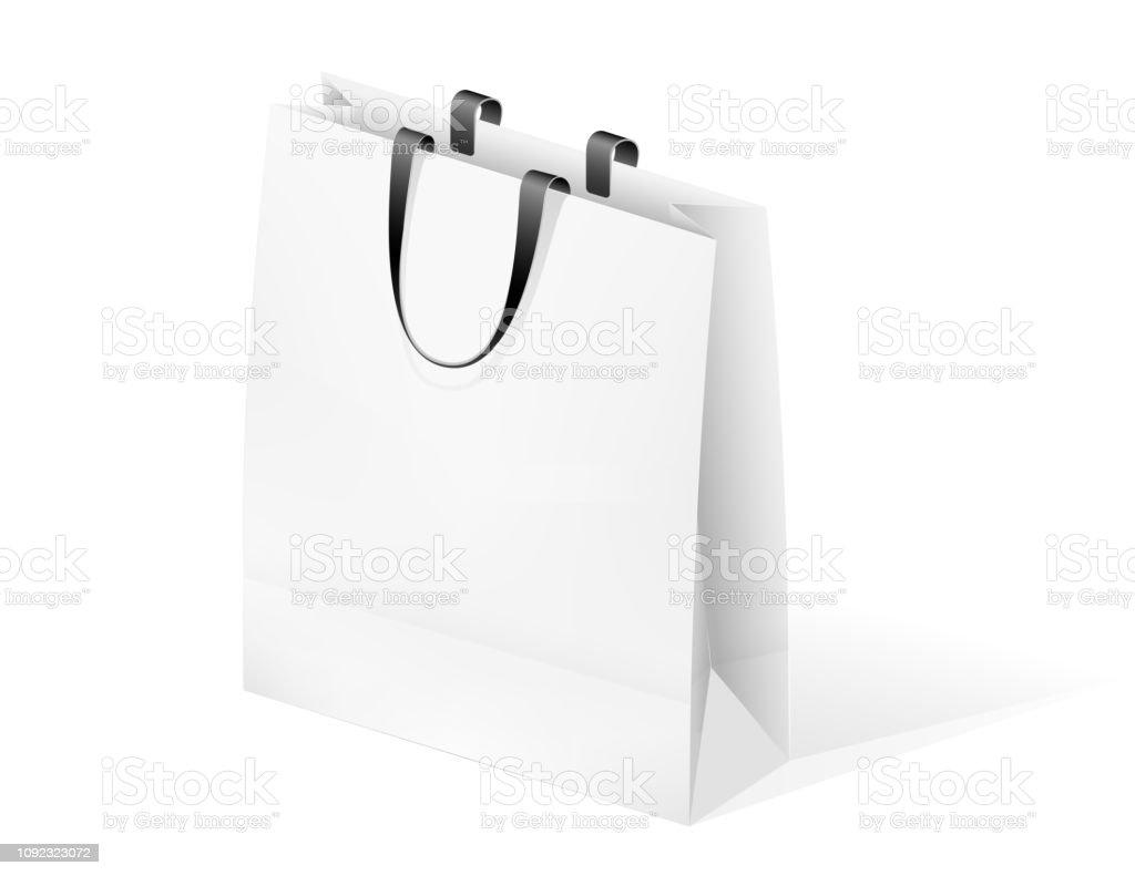 https www istockphoto com de vektor papier leeres paket f c3 bcr ware verpacken und im store einkaufen griffe in einer gm1092323072 293072208