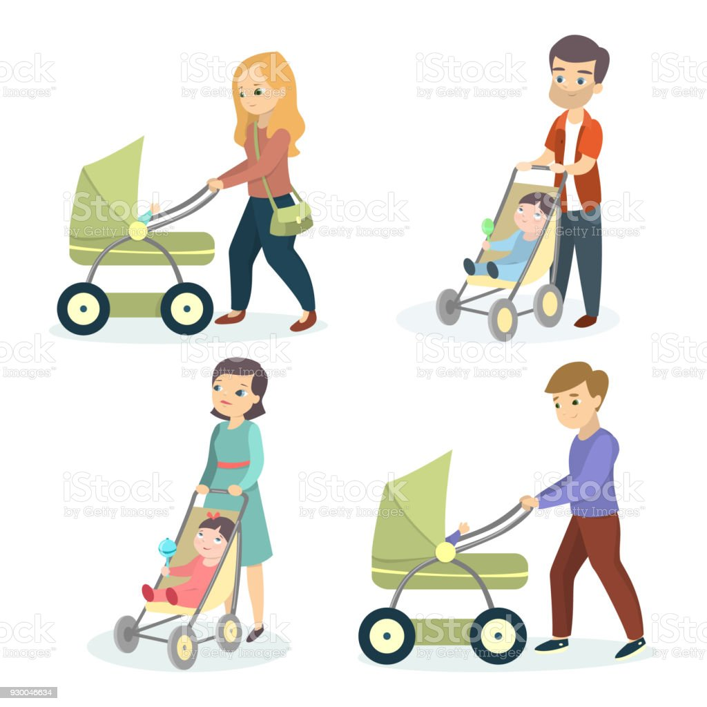 Best Baby Stroller Illustrations Royalty Free Vector