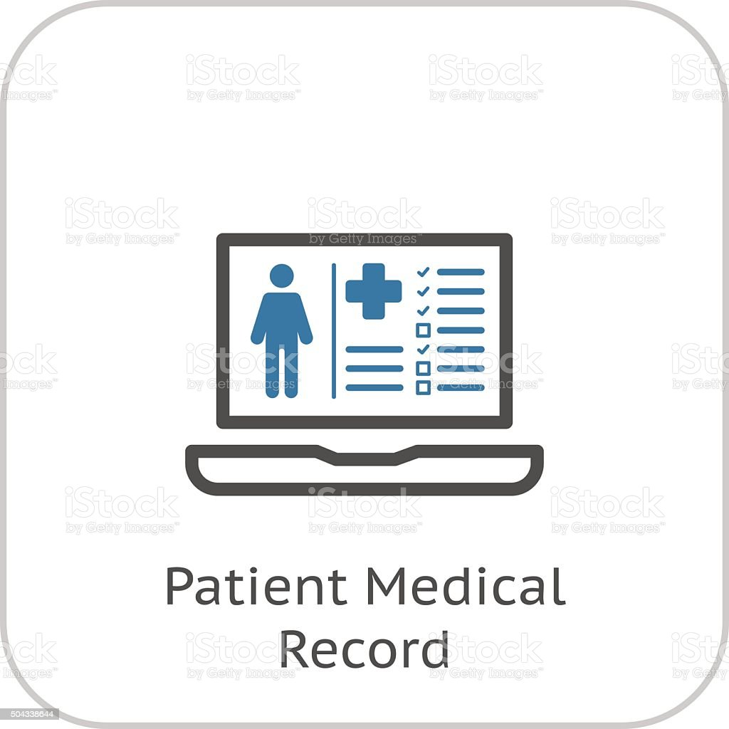 Patient Medical Record Icon Flat Design Stock Vector Art
