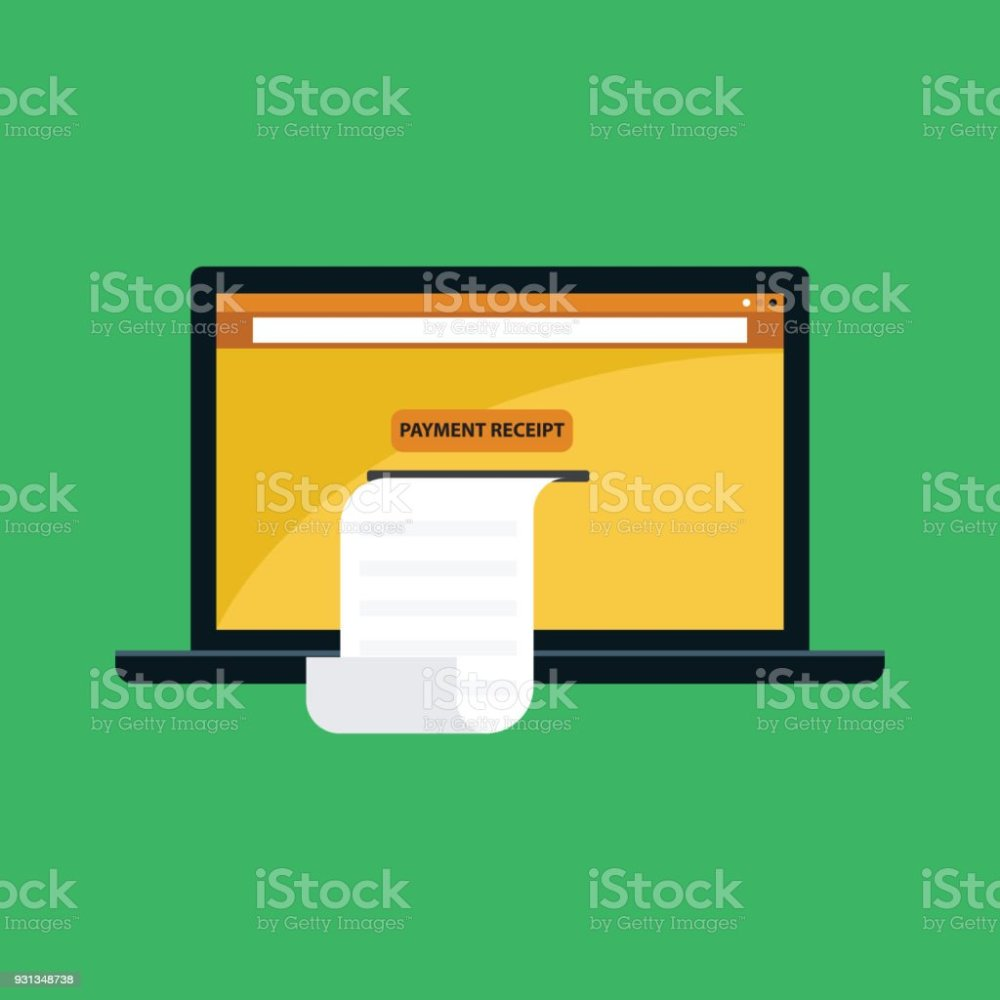 medium resolution of payment receipt with laptop illustration