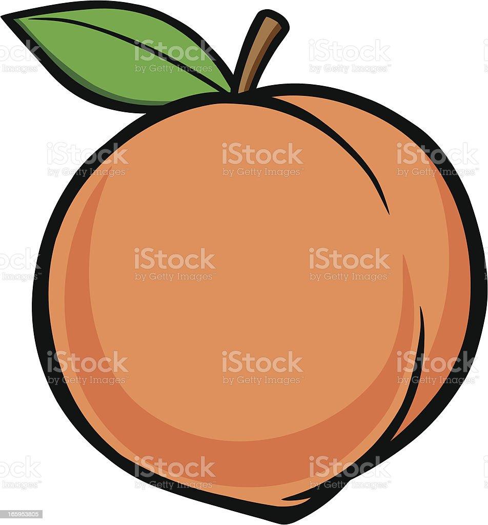 peach clip art vector &