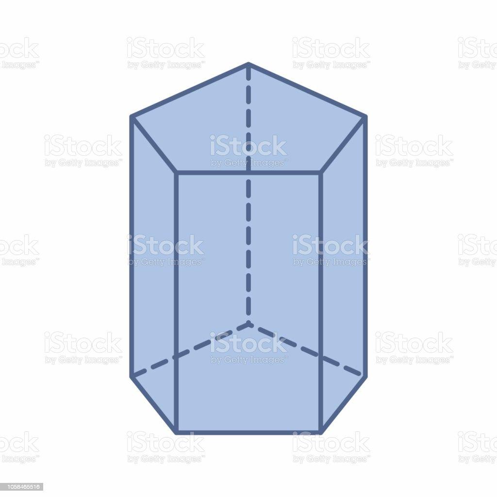 Como puedes ver en la imagen, en el caso del prisma cuadrangular. Ilustracion De Ilustracion De Prisma Pentagonal Y Mas Vectores Libres De Derechos De Prisma Istock