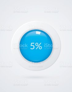 percent blue white pie chart percentage vector infographics five circle diagram isolated symbol also rh istockphoto