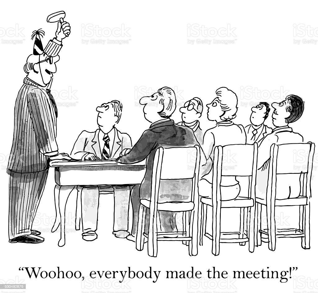 Perfekte Meetingteilnahme Stock Vektor Art und mehr Bilder