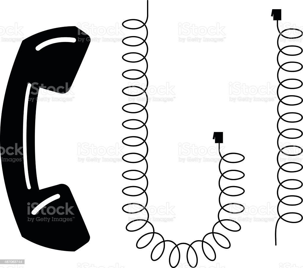 Phone And Phone Cord Stock Vector Art & More Images of