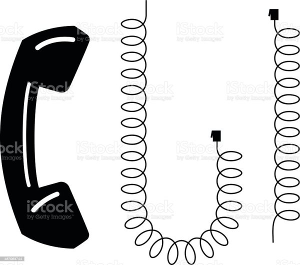 Phone And Cord Stock Vector Art & Of