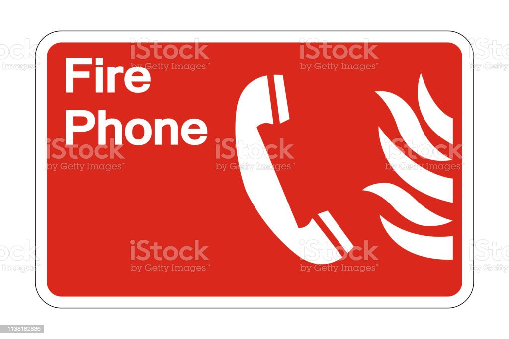 phone fire safety symbol